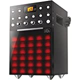 THE SINGING MACHINE SML388BK Karaoke Machine with Music Sychronizing Light Show (Black)
