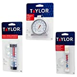 Set of 3 Assorted Thermometers, NSF Certified, Fridge Thermometer, Freezer Thermometer, and Oven Thermometer Combo