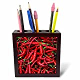 chili pen - 3dRose Danita Delimont - Food - Spicy Hot Red Cayenne Chili Peppers - 5 inch tile pen holder (ph_257978_1)
