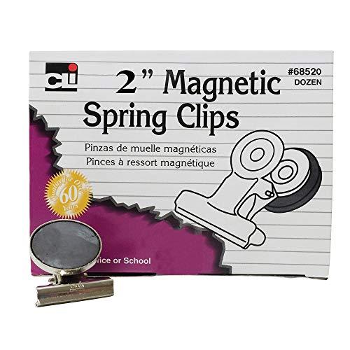 Charles Leonard Binder Clips - Charles Leonard CHL68520BN Magnetic Spring Clips, 2