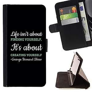 Momo Phone Case / Flip Funda de Cuero Case Cover - Creación Creatividad Negro mensaje de texto - Sony Xperia M5