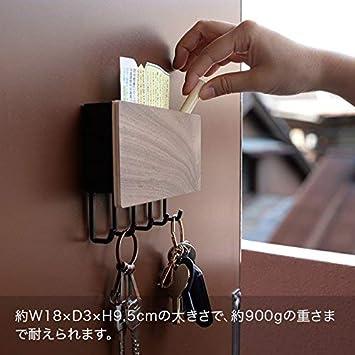 YAMAZAKI home Rin Magnetica Porta Chiave con Vassoio Beige