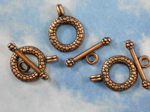 Bulk 30 Toggle Bar Ring Clasps Sets Antique Copper Tone Closure Clasp #ID-548