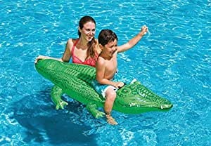 Intex Gator Ride On Inflatable Pool Float, Small Alligator 58546Np(15), Multi Color