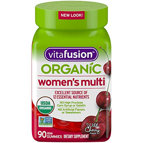 Vitafusion Jumbo Size Bottle Women's Gummy Multivitamin Vegetarian Dietary Supplement – 90 Count – Non-GMO, Gluten-Free…