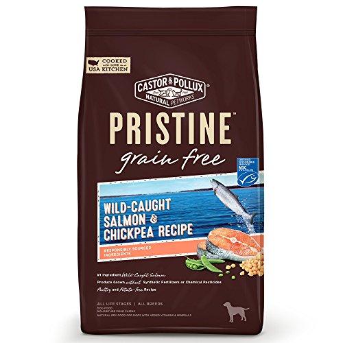 Castor & Pollux Pristine Wild-Caught Salmon & Chickpea Recipe Dry Dog Food, 4 lb