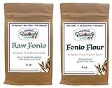 Shipetaukin Gluten Free Raw Fonio Grain and Fonio Flour Sampler Bundle, 8 Ounces