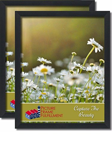 24 By 36-inch Picture Frame 2-piece Set, Smooth Finish, 1.25 Inch Wide, Black Pictureframefactoryoutlet