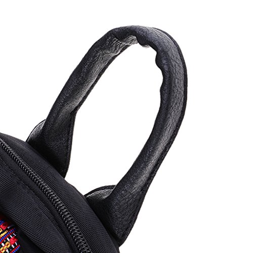 Handbag Shoulder MagiDeal Woman Vintage Bag Embroidered School Gift Backpack Retro nwp0qa