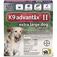 Bayer Animal Health New K9 Advantix II Extra Large XL Dog 4 Pack/Month for Dogs Over 55LBS