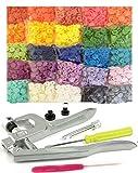 250 Sets 25-Color Original Professional Quality KAMsnaps Size 20 T5 KAM Snaps & Snap Press Pliers Plastic Snaps Fastener Setter Hand Tool