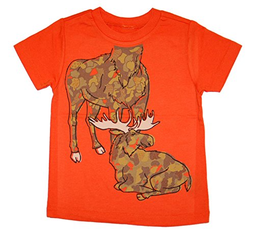 Peek A Zoo Toddler Become an Animal Short Sleeve T shirt - Moose Orange (3T) for $<!--$19.99-->