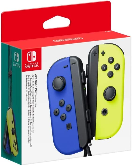 Joy-Con (set Izda/Dcha) Azul / Amarillo Neón: Nintendo: Amazon.es ...
