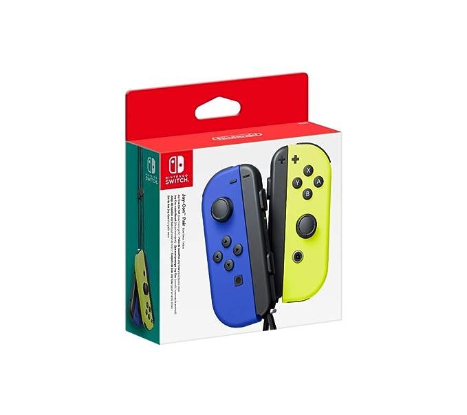 Paire de Joy-Con Bleu-Jaune Néon pour Nintendo Switch