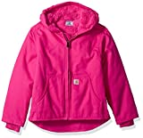 Carhartt Little Girls' Redwood Jacket Sherpa Lined, Pink Peacock, XS (6)