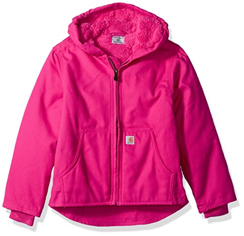 Carhartt Girls' Little' Redwood Jacket Sherpa Lined, Pink Peacock, Small ()