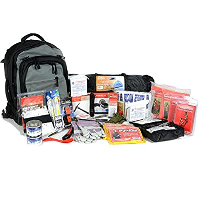 Premium 2 Person Bug Out Bag - Emergency Supplies Bugout Kit - Food, Shelter, Survival Tools & Gear Pack