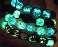 Glow In The Dark Shamballa Adjustable Bracelet Bangle Wristband - Women's Children's Unisex Rave Party Fashion Jewelry