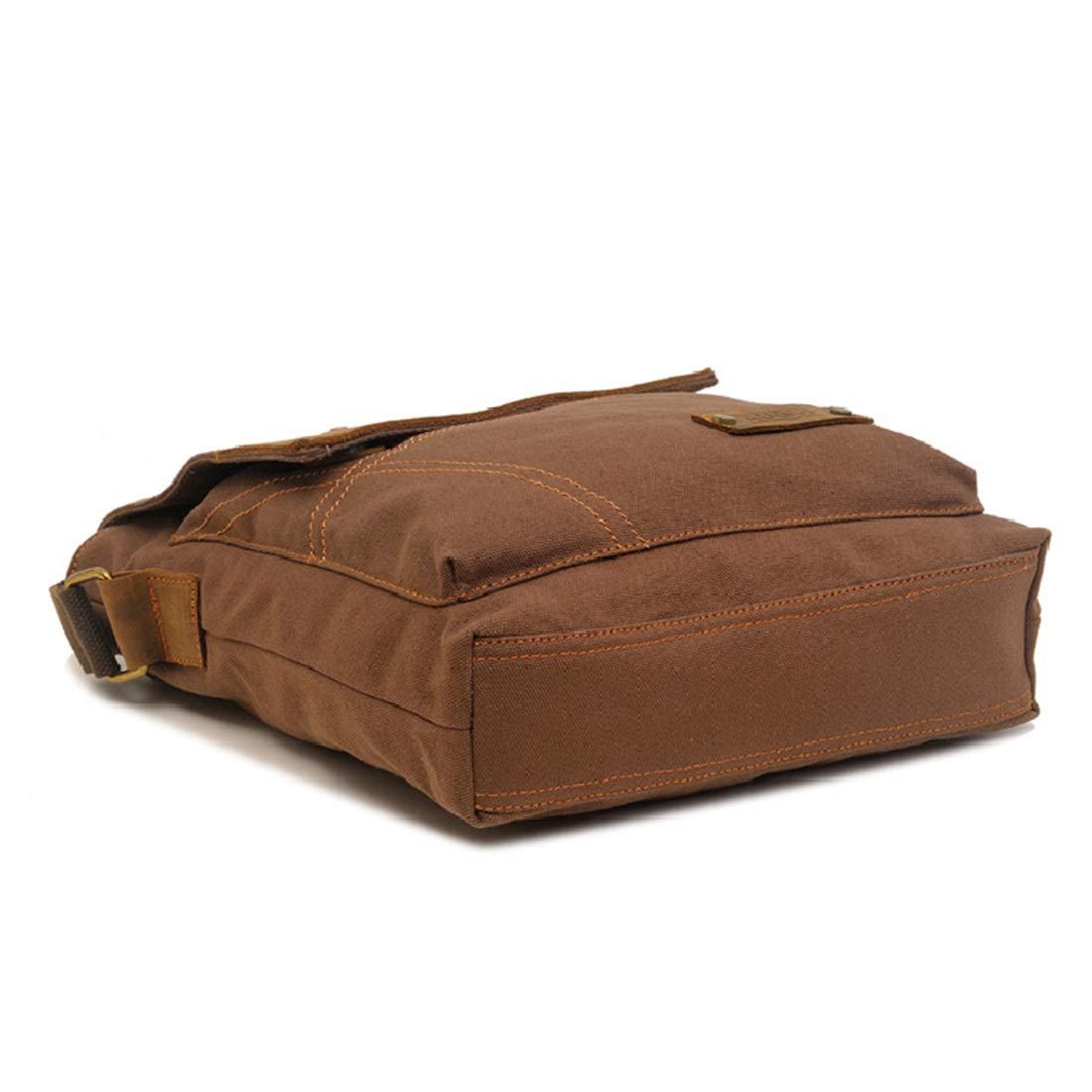 Kajuer Messenger Bag Vintage Canvas Shoulder Bag Bookbag for Men Satchel Bags for Men Color : Green