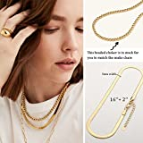 Gold Choker Necklace for Women Girls 5MM Flat Snake