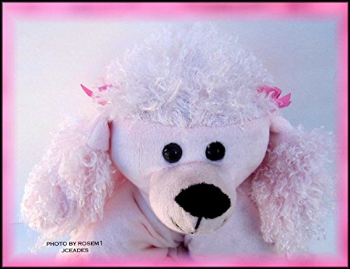 Qiyun New Stuffed Charmers Authentic Pillow Chums Pet Pink Poodle Dog Kellytoy 13 X11