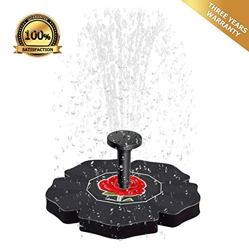 MisWilty Solar Water Pump, Solar Bird Bath Fountain Pump, Outdoor Watering Submersible Pump for Garden, Patio, Fish Tank Aquarium, Small Pond, Lawn (Black) (Pay Less Pumps)