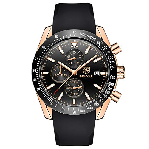 Men's Luxury Business Casual Fashion Classic Comfortable Waterproof Quartz Chronograph Men's Watch,MmNote(A) from MmNote watches for men