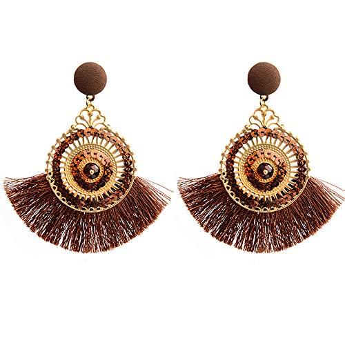 Gbell Bohemia Openwork Fringe Earrings for Women -