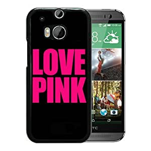 Individual Design Phone Case LOVE PINK LOGO Black Popular Sale HTC ONE M8 Phone Case