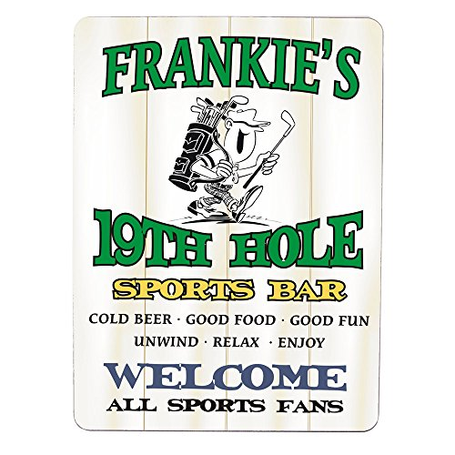 - GiftsForYouNow 19th Hole Sports Bar Personalized Wall Sign, 9