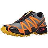 Salomon Men's Speedcross 3 CS Trail Running Shoe, Light TT/Clementine-X/Bee-X, 7.5 D US