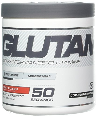 Cellucor Glutamine Powder, Post Workout Recovery with Glutamine Supplement, Cor-Performance Series, Fruit Punch, 50 Servings