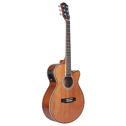 NUYI-4 Madera Caja Guitarra eléctrica Sapele Esquina 40 Pulgadas