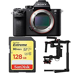 Sony a7S II Mirrorless Interchangeable Lens Camera with DJI Ronin M 3-Axis Brushless Gimbal Stabilizer and Sandisk 128GB SDXC Memory Card Bundle