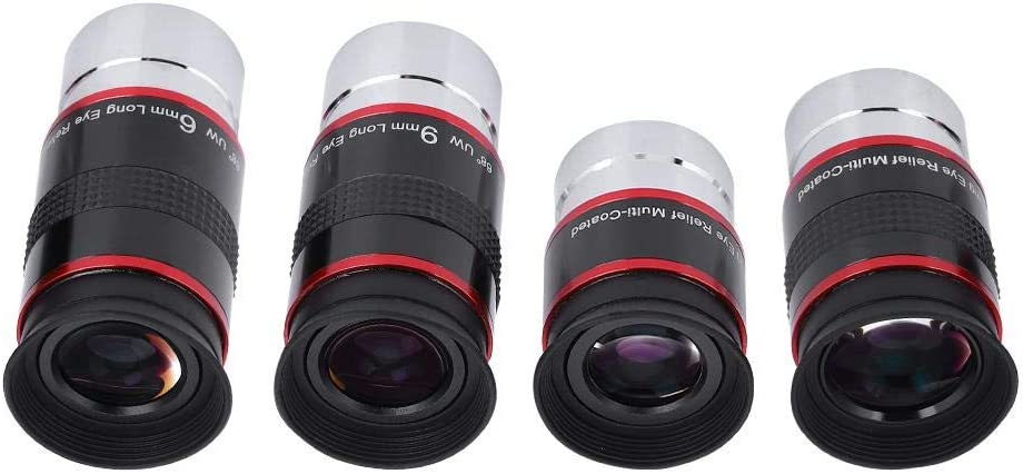 1.25 68/° Eyepiece Ultra Wide Angle FMC Eyepiece Wide Angle Eyepiece Kit 6+9+15+20mm for Astro Telescope