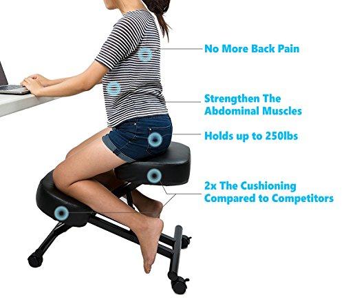 Sleekform Ergonomic Kneeling Chair Adjustable Stool For