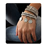 Antique Turkish Boho Coin Jewelry Tribal Ethnic Statement Bracelet