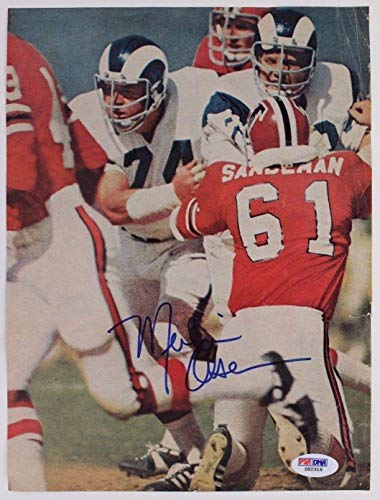 Merlin Olsen D2011 Los Angeles Rams Autographed Signed Magazine 8x10 Memorabilia - PSA/DNA Authentic - Merlin Olsen Autographed Rams