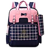 Ali Victory Waterproof Cute Backpack for Girls Large Kids Bookbag (Small, Blue)