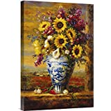 """Global Gallery GCS-128099-1624-142 """"Hong Tuscan Sunflowers"""" Gallery Wrap Giclee on Canvas Print Wall Art"""