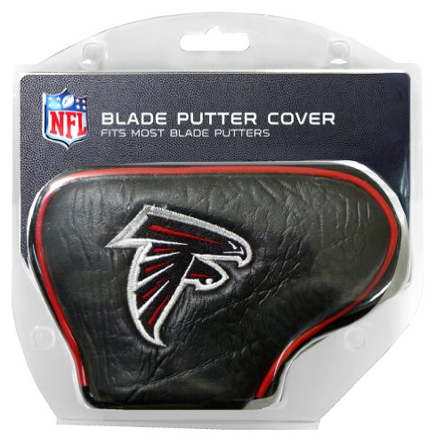 Team Golf NFL Atlanta Falcons Golf Club Blade Putter Headcover, Fits Most Blade Putters, Scotty Cameron, Taylormade, Odyssey, Titleist, Ping, Callaway