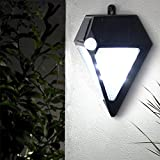 BuyYourWish Wall-mounted Garden Solar Power Human Body Induction 6 White LED Lamp Waterproof Wall Light One Piece