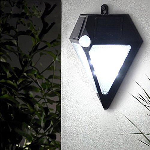 BuyYourWish Wall-mounted Garden Solar Power Human Body Induction 6 White LED Lamp Waterproof Wall Light One Piece by BuyYourWish