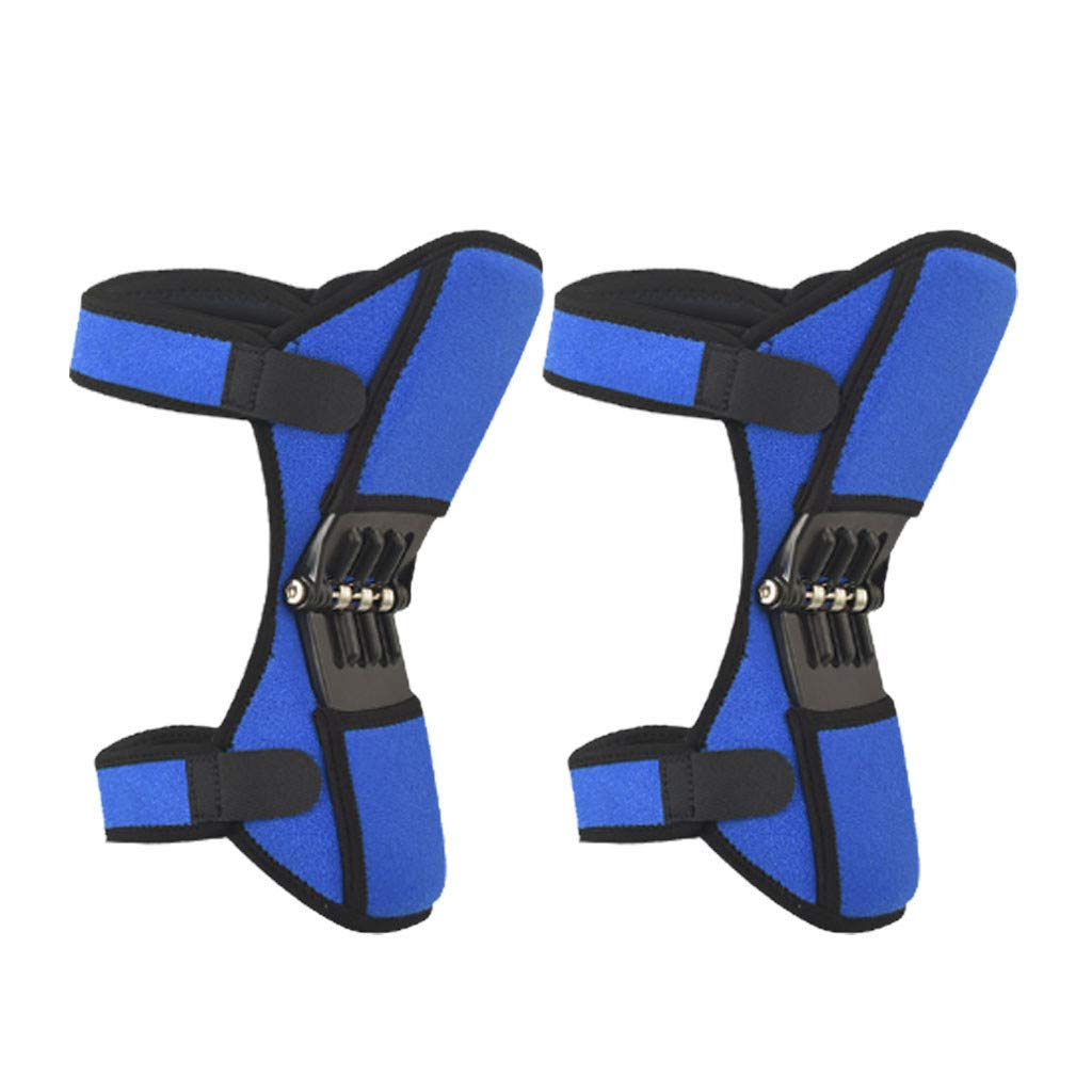☞Bosji♥Knee Brace Knee Pad Self-Heating Therapy Knee Sleeve Injury Prevention Kneepad Compression Fit Support for All Kind of Sports (blue1)