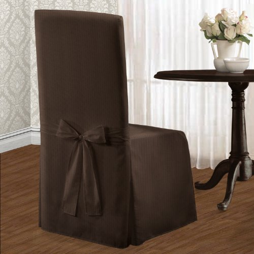 United Curtain Metro Dining Room Chair Cover, 19 by 18 by 39-Inch, Chocolate (Dining Chair Covers Brown compare prices)