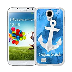 New Style View Window Design Smart Cover For Samsung Galaxy S4 i9500 Art Anchor Watercolor Samsung Galaxy S4 i9500 Case White Cover