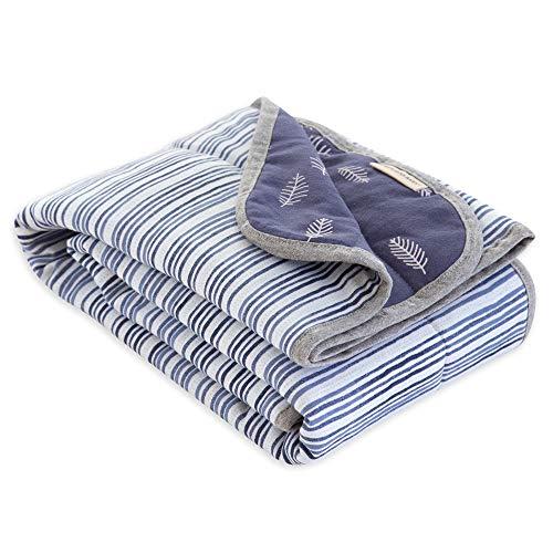 (Burt's Bees Baby - Reversible Blanket, Multipurpose Nursery & Tummy Time Organic Jersey Cotton Baby Blanket (On the)