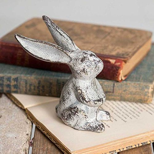 Bird's Nest Gifts and Antiques Bunny Rabbit Place Card Photo Holder SET OF 4 Garden Patio ()