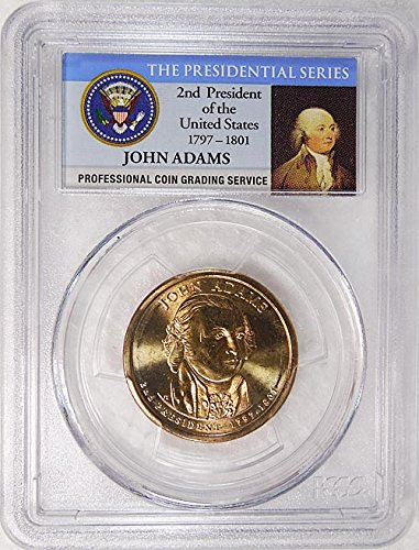 2007 D Pos. A John Adams Presidential Dollar PCGS MS 66 FDI Presidential Label (John Adams Dollar)