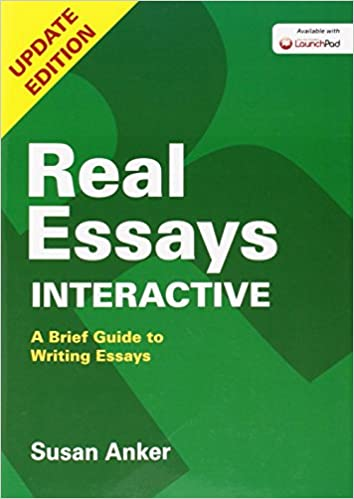 com real essays interactive a brief guide to writing  com real essays interactive a brief guide to writing essays 9781457696626 susan anker books